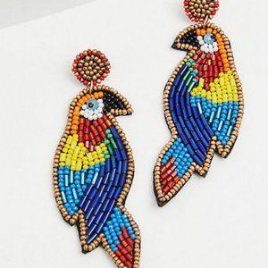 🆕 Parrot Multi Bead Statement Earrings New Torrid